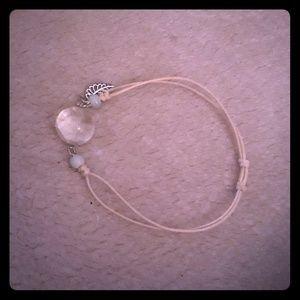 Jewelry - BOHO BRACELET W/CRYSTAL BALL & SILVER LEAF